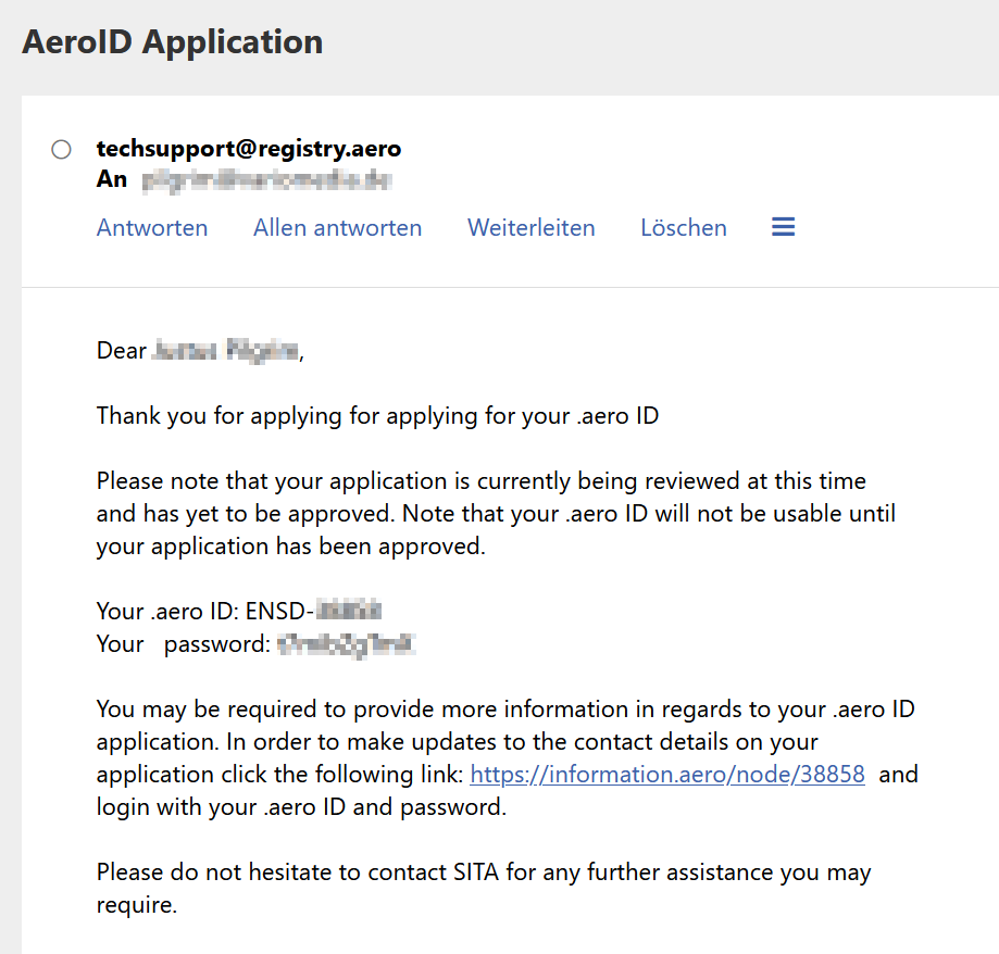 Erste E-Mail - noch keine Bestätigung