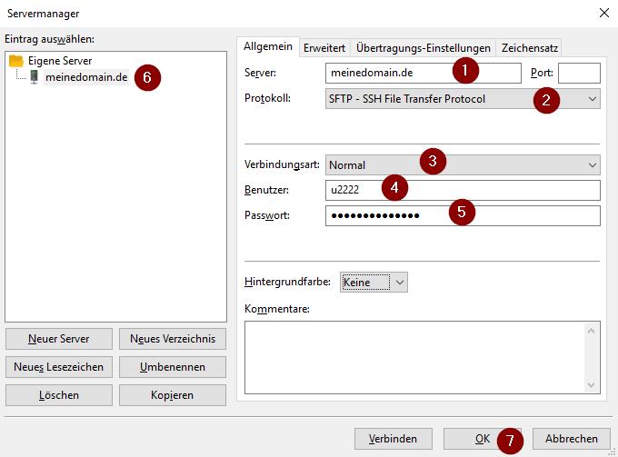 Servermanager von FileZilla